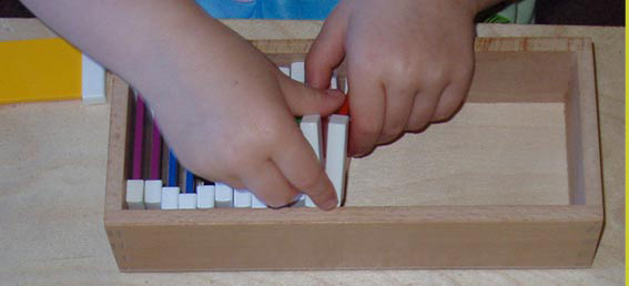 Montessori Child Working